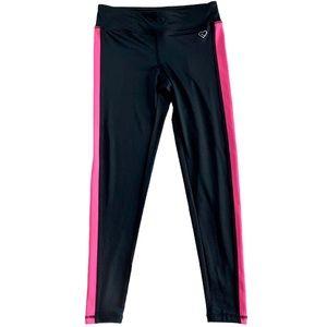 Aeropostale Neon Pink Side Stripe Yoga Leggings